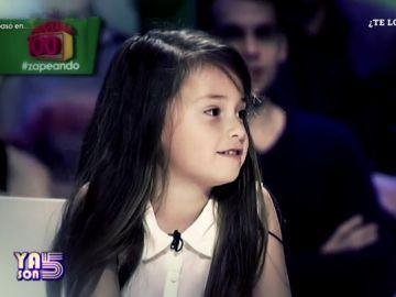 La niña que imitó a Cristina Pedroche