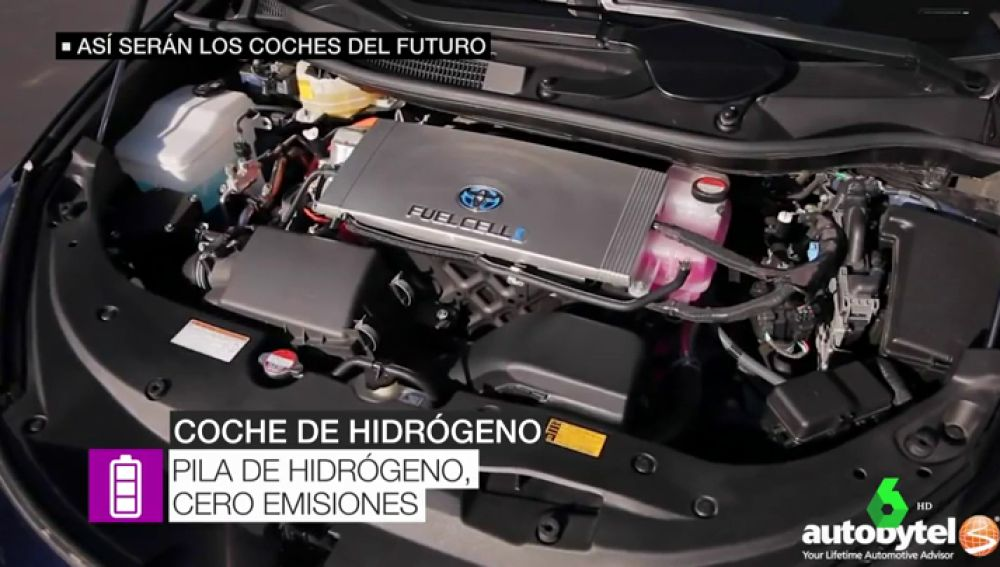 Motor de un coche de hidrógeno