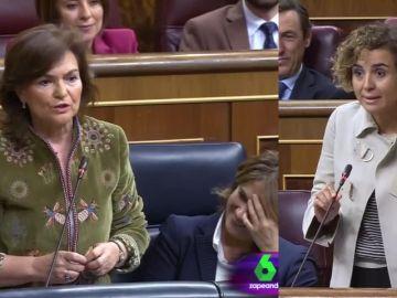 Carmen Calvo y Dolors Montserrat