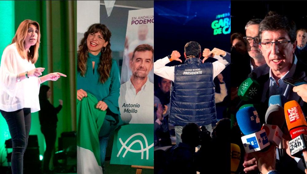 Actos de inicio de campaña electoral en Andalucía
