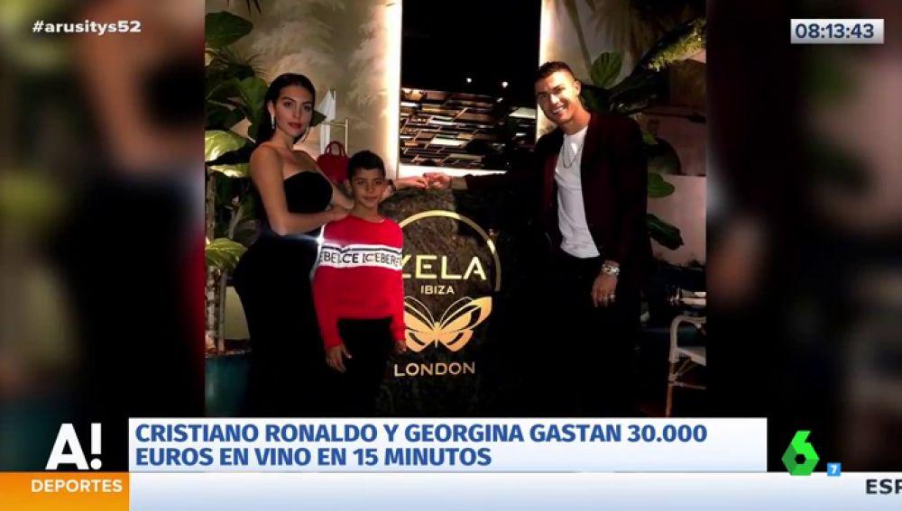 Cristiano Ronaldo y Georgina Rodríguez se gastan 30.000 euros en vino