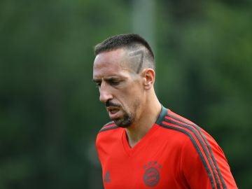 Ribery, durante un entrenamiento del Bayern de Múnich