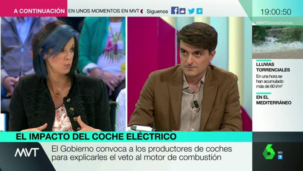 """Tenso debate entre Jorge Morales y la portavoz de los fabricantes de automóviles: """"¿22 años no son suficientes para transformar el sector?"""""""