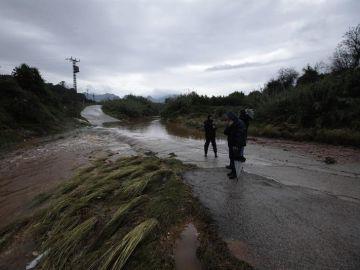 Zona de Marxuquera del término de Palma de Gandía afectada por la lluvia