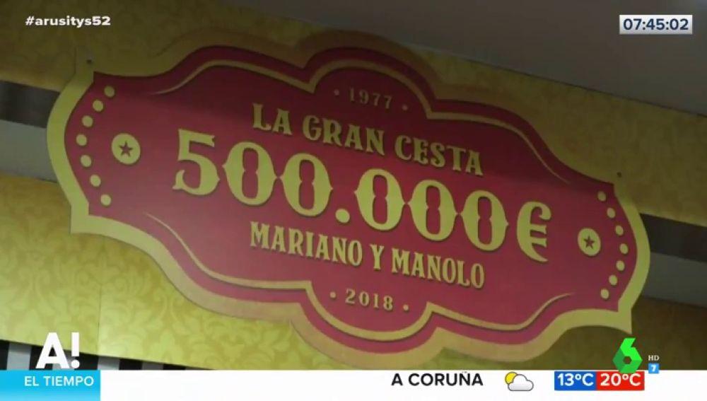 La suculenta cesta de Navidad valorada en 500.000 euros de un bar de Teruel