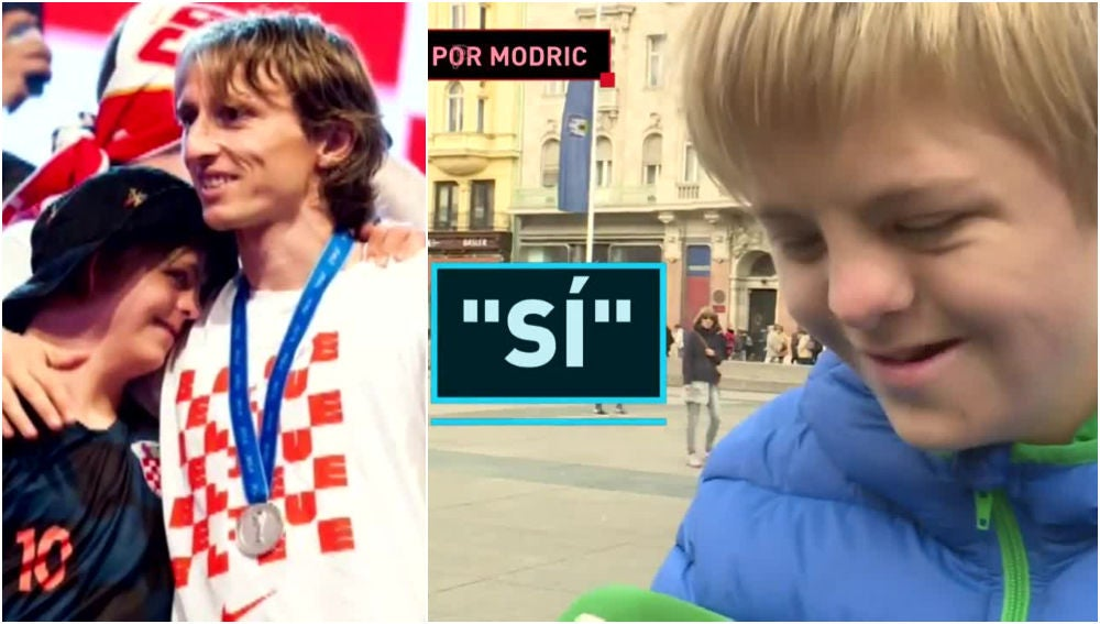 Peater, el joven que cumplió su sueño junto a Modric