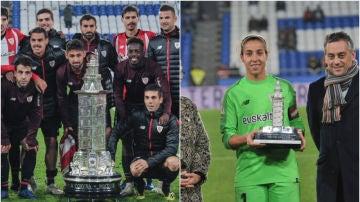La abismal diferencia de los trofeos entregados al Athletic por ganar el Teresa Herrera