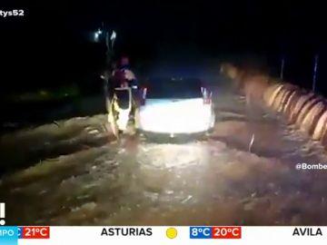 Rescate de un conductor en Gandía
