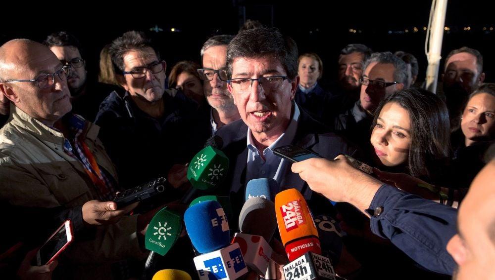 El candidato de Ciudadanos a la Presidencia de la Junta, Juan Marín
