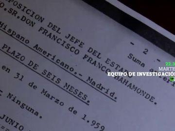 Equipo de Investigación saca a la luz las cuentas del dictador: 'Los papeles secretos de Franco', este martes en laSexta
