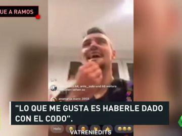Lovren se burló de un codazo a Ramos y se metió con España
