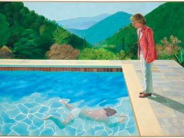 Pintura 'Retrato de un artista' de David Hockney