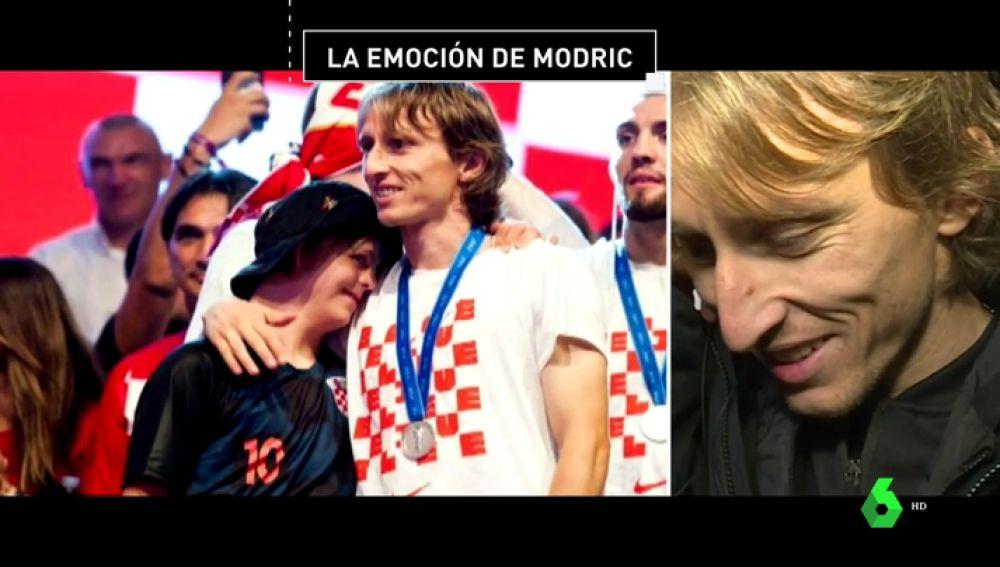 Modric se emocionó al ver el mensaje de un niño con síndrome de down