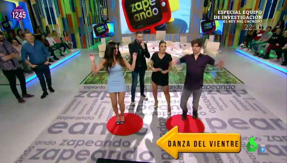 Cristina Pedroche y Jordi Coll en el 'Juego de la SemAnna'