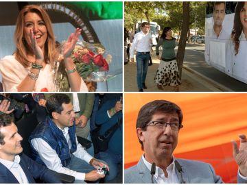 Primer día de campaña en Andalucía antes del 2D