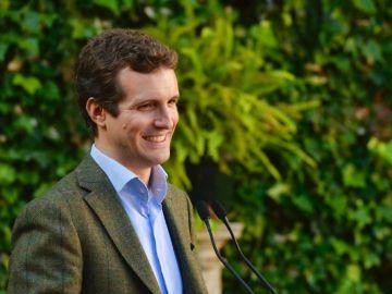 Imagen de Pablo Casado durante un acto electoral