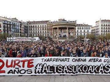 Manifestación en Alsasua para pedir la libertad de los condenados