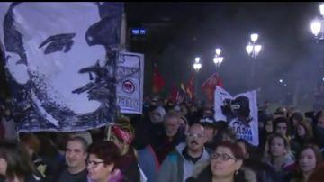 Imagen de la manifestación antifranquista en Madrid