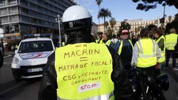 Imagen de las protestas en Francia contra la subida del combustible