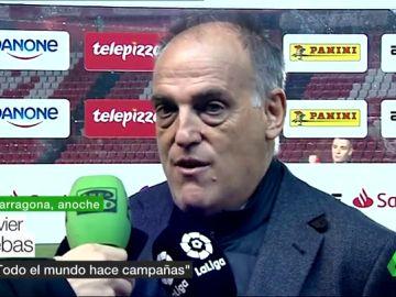 Javier Tebas insiste con el Girona - Barcelona en Miami