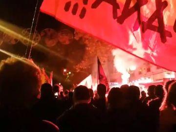 Concentración a favor de Franco en el centro de Madrid