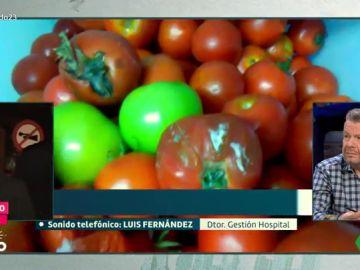 Tomates en mal estado en el hospital de Sierrallana