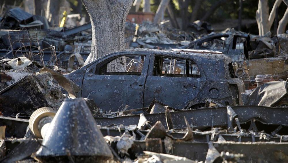 Estragos de los incendios en California
