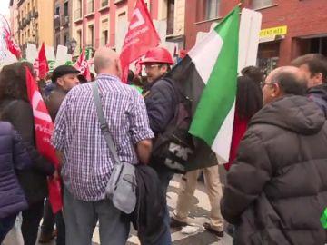 Imagen de la manifestación en Madrid por la saturación de los juzgados de cláusulas suelo