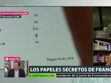 Documentos de las cuentas de Franco que se mantuvieron ocultos