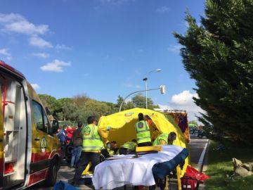 Reanimación de un menor tras ser atropellado en Madrid