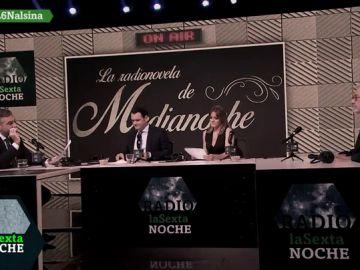 La desternillante 'radionovela de medianoche' de Carlos Alsina, Iñaki López, Andrea Ropero y Xavier Sardá (con cameo del señor Casamajor incluido)