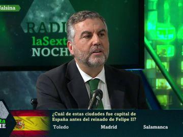 laSexta Noche somete a Carlos Alsina al 'test de españolidad' que realiza a sus entrevistados en Más de uno