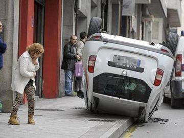 Accidente en ciudad
