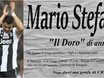 La esquela de Mario Stefanini