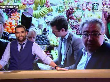 """El Intermedio recoge la """"ruta gastronómica de Casado"""" por Andalucía: """"Le compro fruta a Zoido, ¿usted quiere amargar la vida al PP andaluz?"""""""
