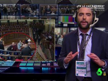 El VAR de El Intermedio zanja la polémica del escupitajo de un diputado de ERC a Josep Borrell