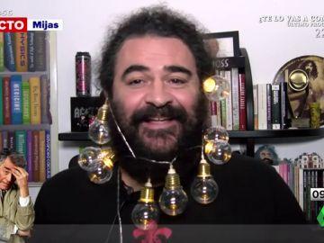 El Sevilla se une a la moda de llevar luces navideñas en la barba