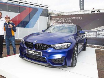 Marc Márquez con su nuevo BMW M3