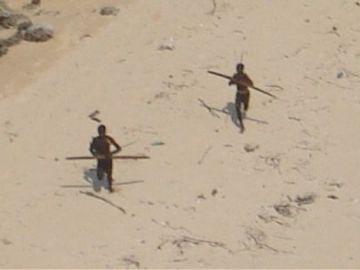 Aborígenes en Sentinel del Norte