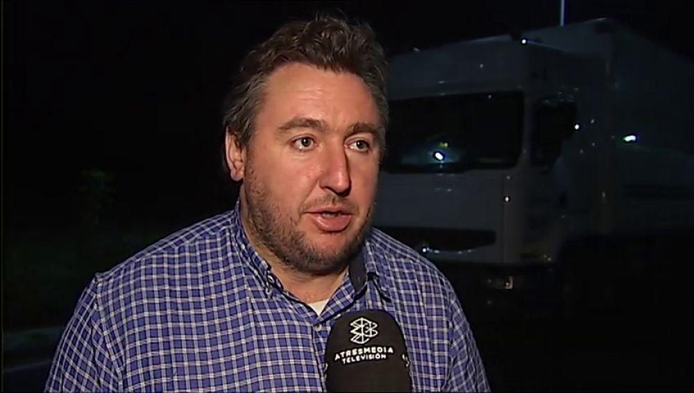 Un camionero atrapado en la frontera con Francia