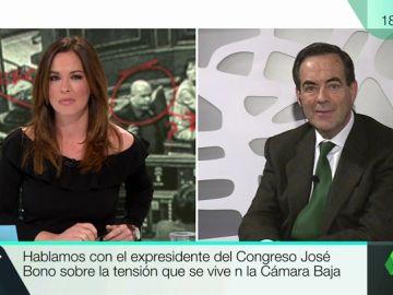 """José Bono: """"Rufián se ve obligadO a hacer un papel y representar una función en el Parlamento"""""""