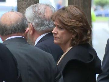 La ministra Dolores Delgado en un acto con el rey este jueves en Madrid