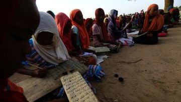 Varias niñas en Sudán del Sur