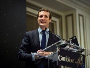 El presidente del Partido Popular (PP), Pablo Casado,