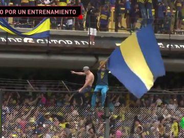 Lleno en La Bombonera: agobio total y clausura del estadio... ¡sólo por ver un entrenamiento!