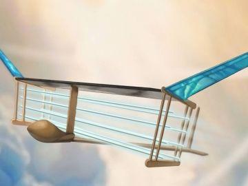 Avión propulsado con viento iónico