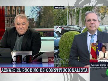 """Carmona carga contra Aznar: """"Perteneció a una organización falangista y de un partido fundado por franquistas. Lecciones de constitucionalismo al PSOE, las justas"""""""
