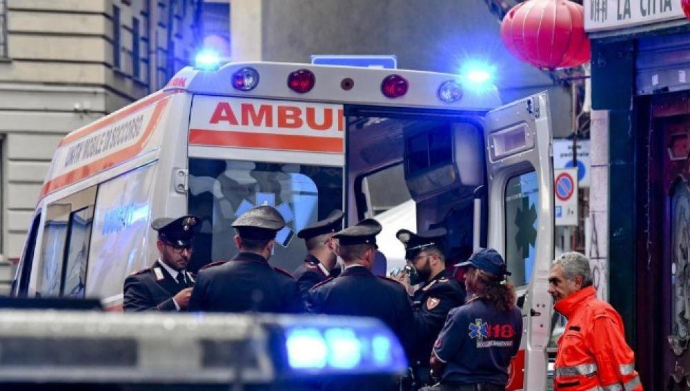 Imagen de archivo de una ambulancia italiana
