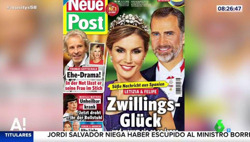 La reina Letizia y el rey Felipe VI esperan gemelos