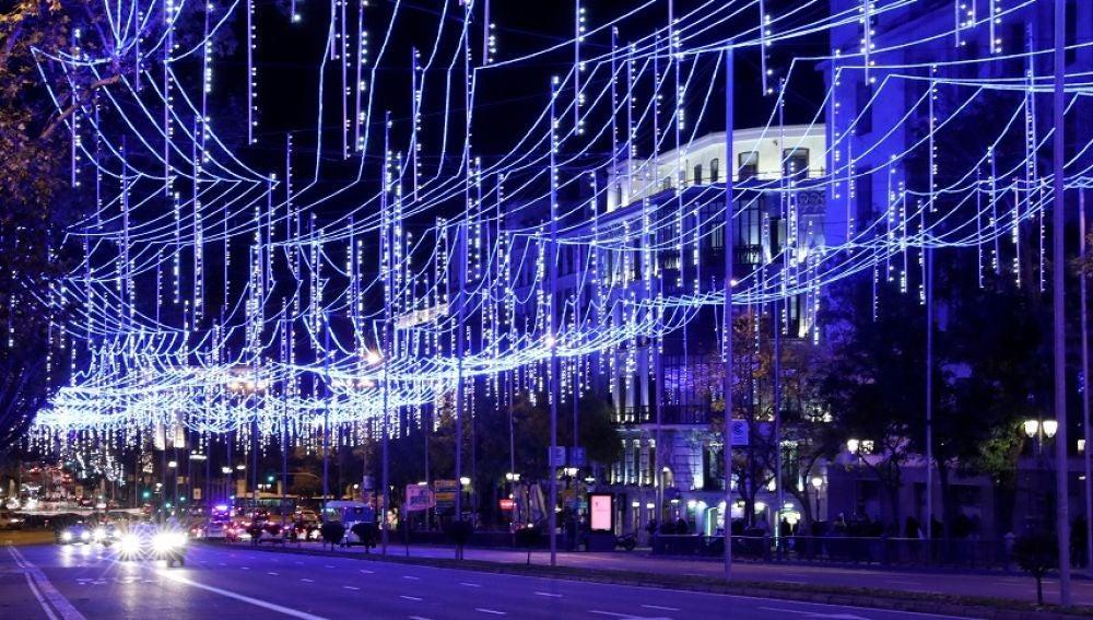 Imagen de las luces de Madrid
